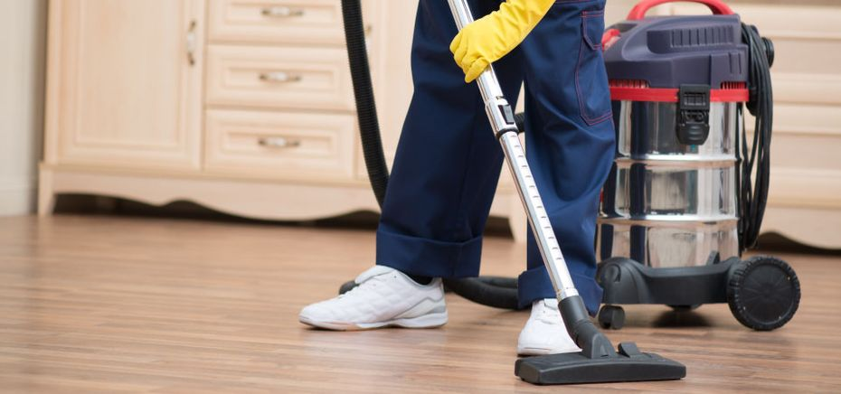 all star janitorial vacuuming floor